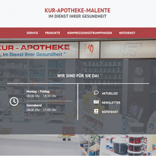 Kur Apotheke Malente - Homepage Teaser
